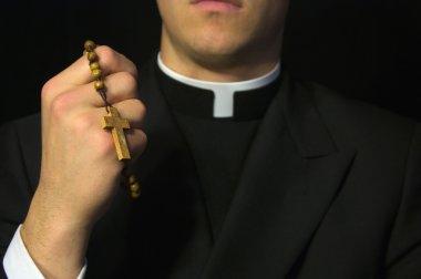 "Картина, постер, плакат, фотообои ""молодой священник молится "", артикул 9631882"