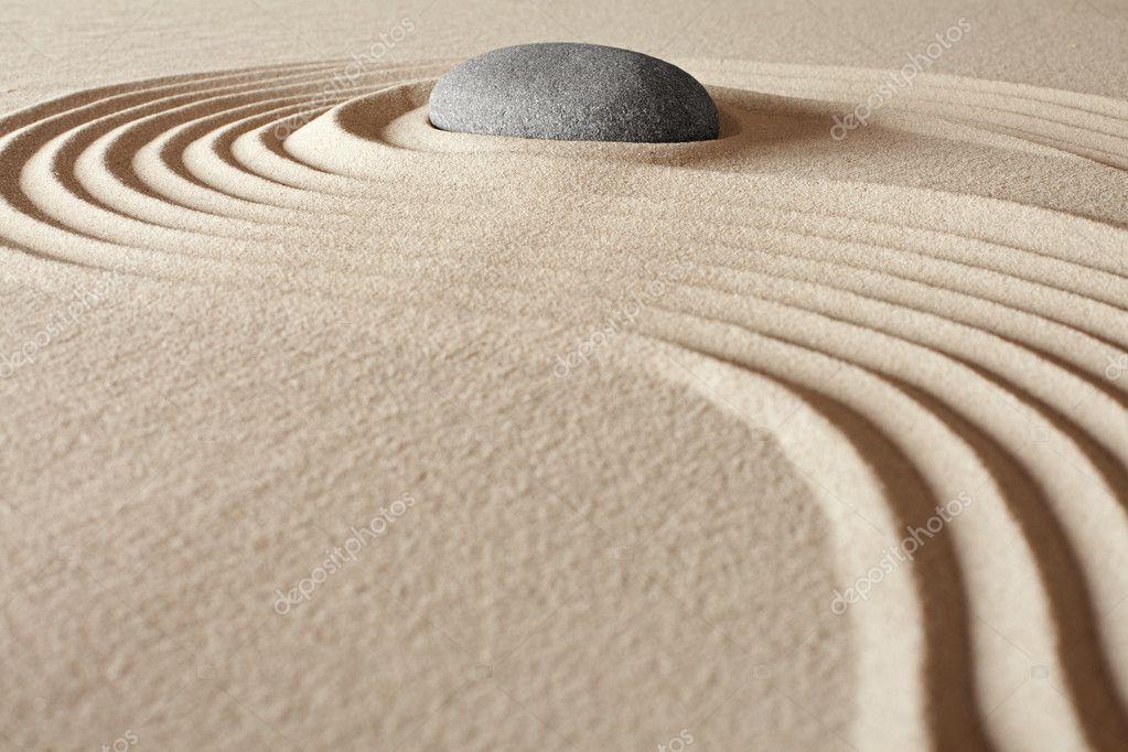 Zen buddhism editation garden