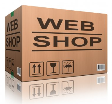 Web shop cardboard box