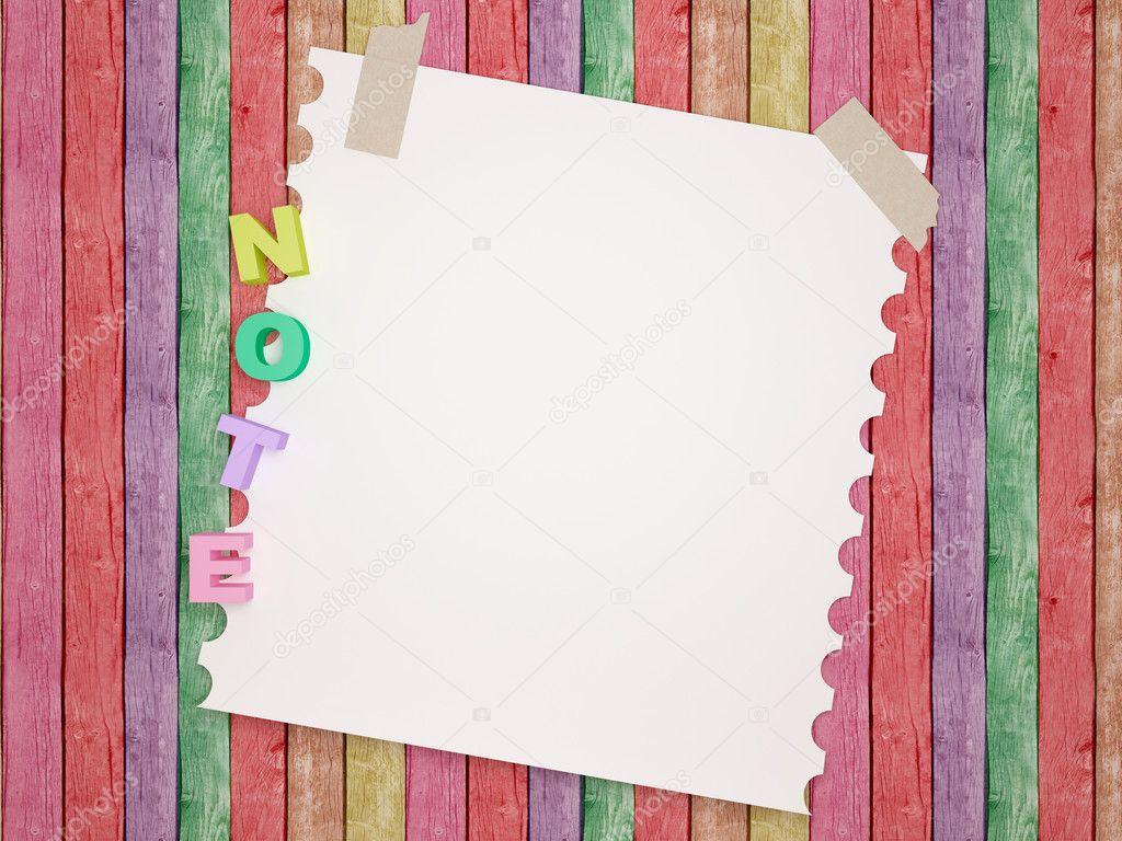 Notebook paper background. — Stock Photo © kosheen #10609742