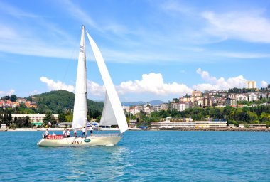 Yachting in Sochi resort, Russia