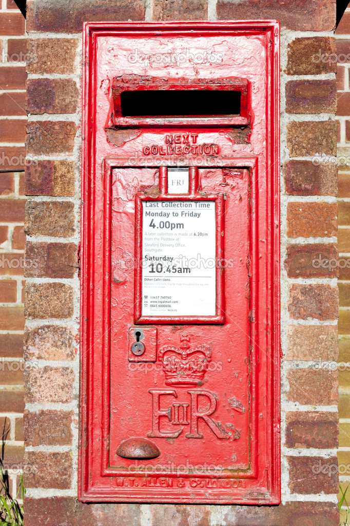 Heckington Briefkasten East Midlands England Stockfoto Phbcz
