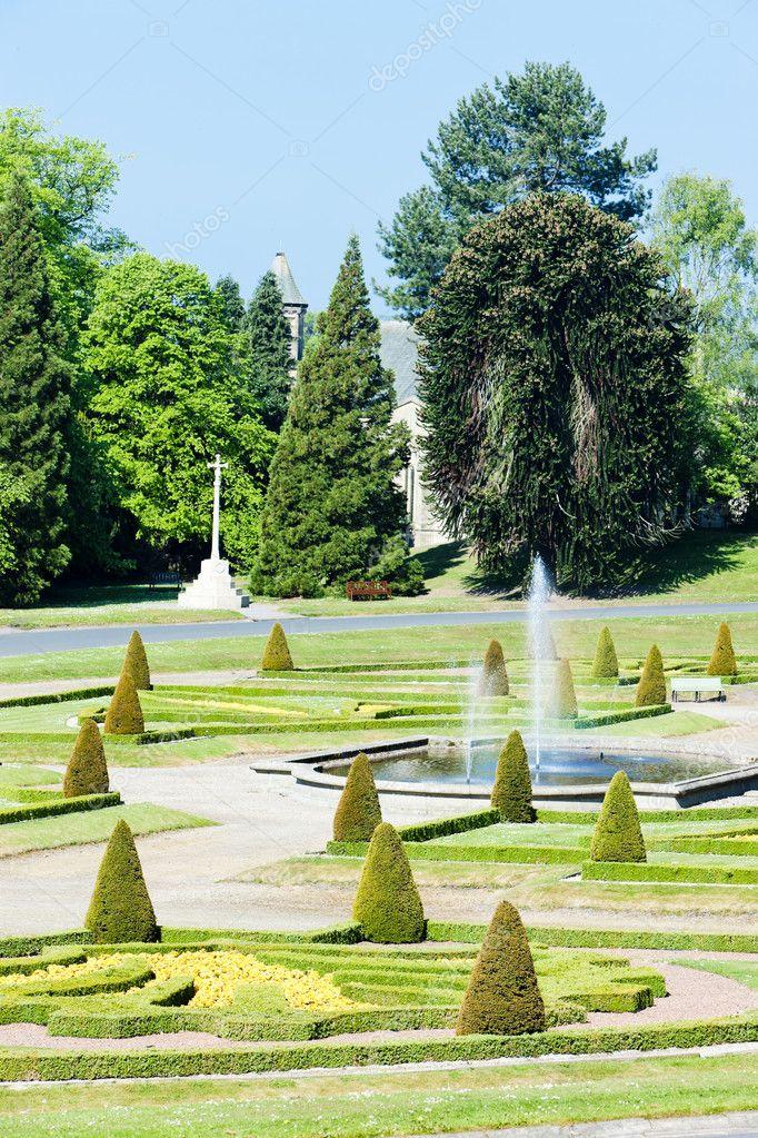 Chateau De Jardin De Barnard Au Nord Est Angleterre