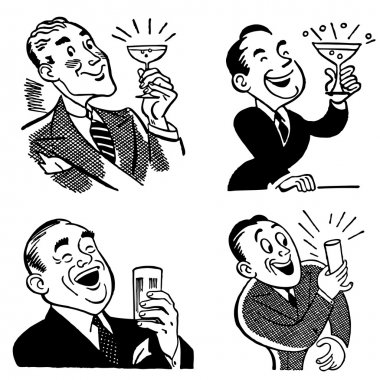 Vector Vintage Drinking Graphics