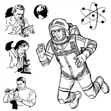 Vector Vintage Science Graphics