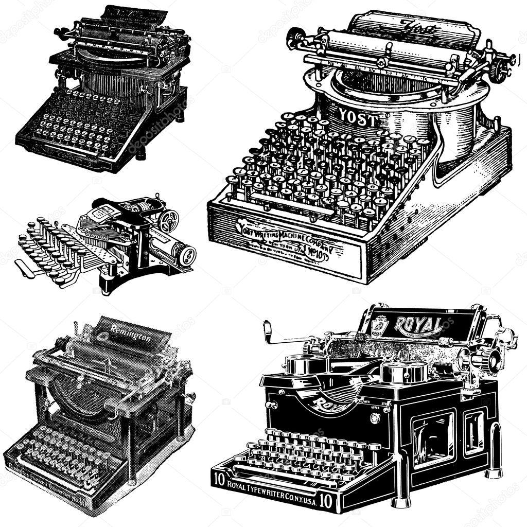 Vektor Vintage Schreibmaschinen 10
