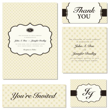 Vector Ornate Frame Set. Easy to edit. Perfect for invitations or announcements. clip art vector