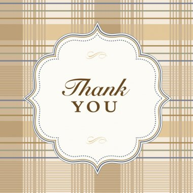 Vector Plaid Thank You Frame and Pattern