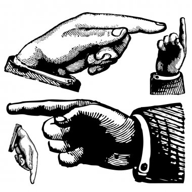 Vector Pointing Finger Set