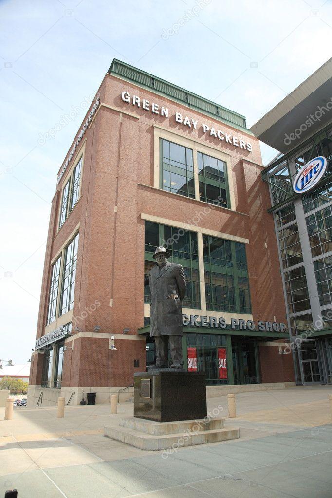 Lambeau Field - Green Bay Packers Vince Lombardi — Fotografia de ...