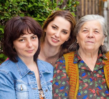 Family portrait - daughter granddaughter and grandmother