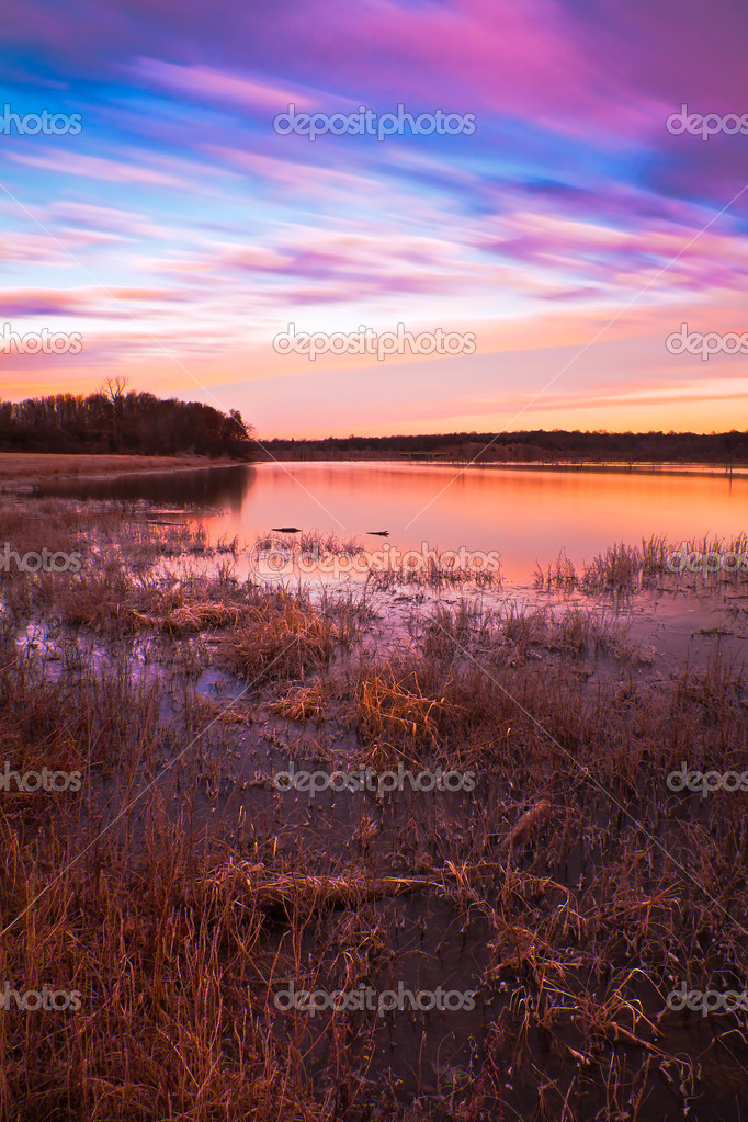 Pastel Sunrise at Lake Jacomo in Blue Springs, Missouri