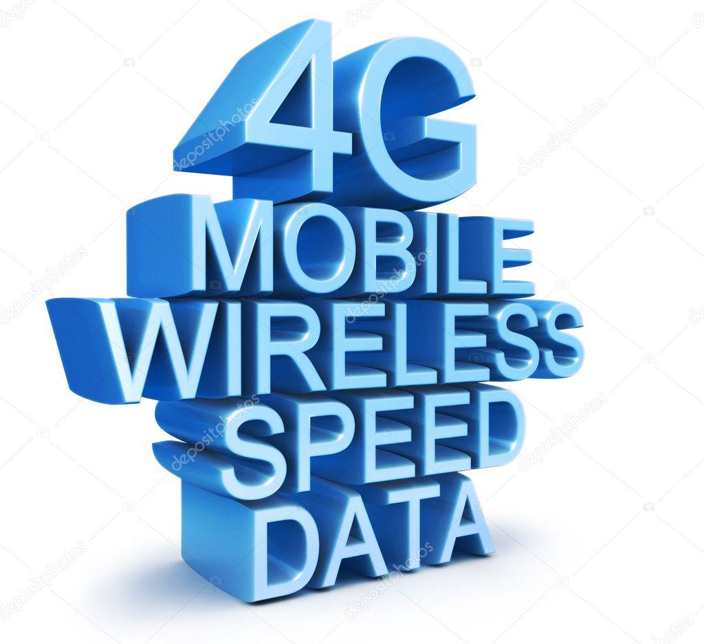 neueste drahtlose Kommunikation 4G-Technologie standard — Stockfoto ...