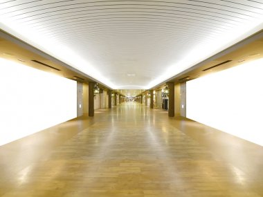 Long wooden walkway