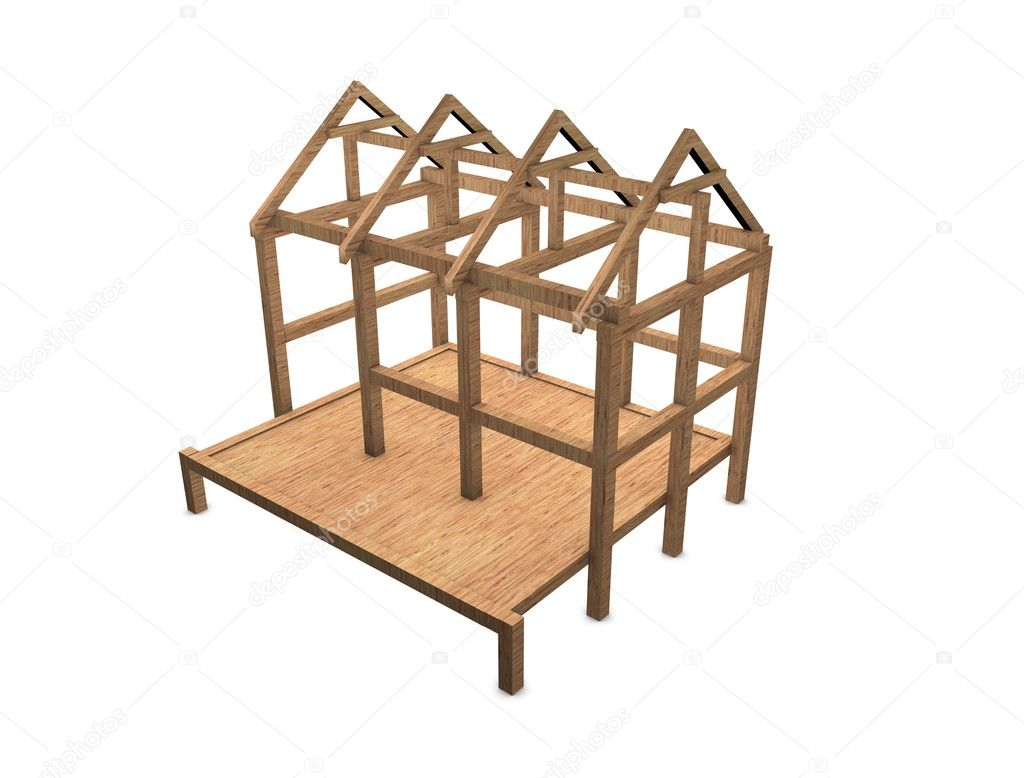 nuevo marco de casa — Foto de stock © OneO2dp #7999084