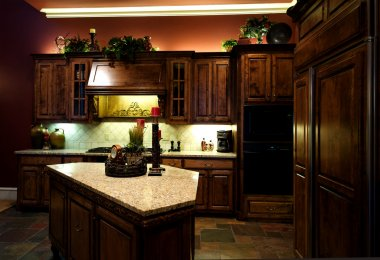 Luxuriously decorated kitchen