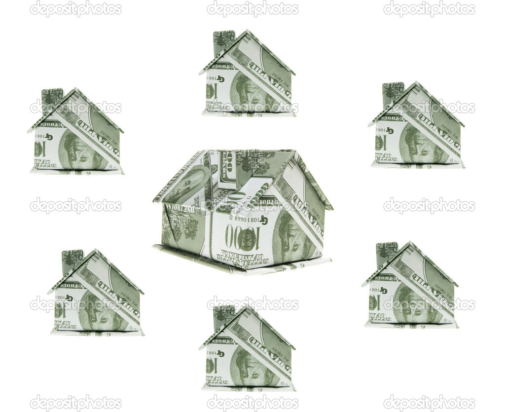 Miniature Paper Buildings — Stock Photo © newlight #9784635