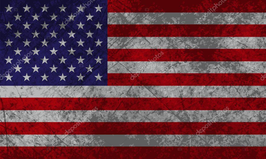 american flag grunge — stock vector © princesszelda #10553115