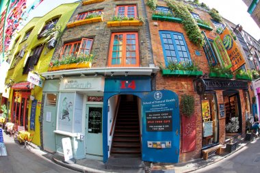 Colourful Neal's Yard near Covent Garden in London
