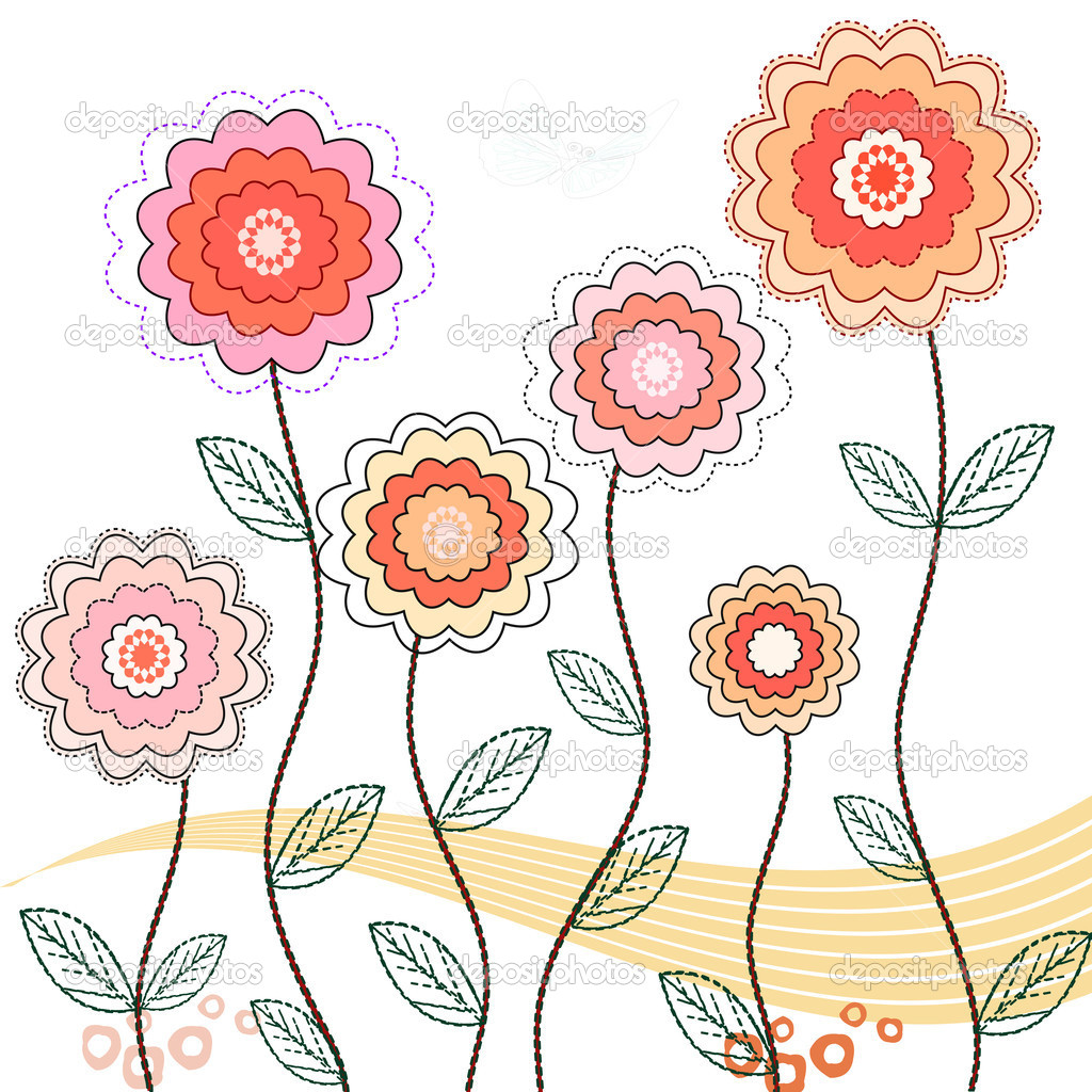 Springtime flowers , vector illustration