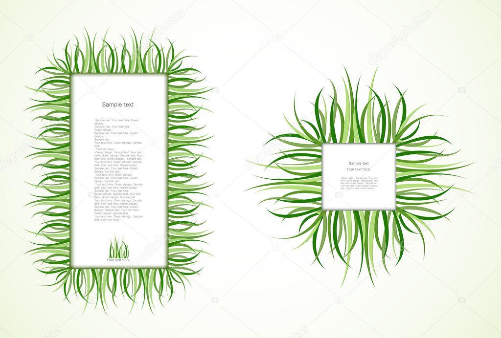 Gras-Frames. Vektor — Stockvektor © emaria #9085028