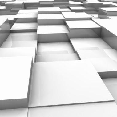 White brick wall, with random height bricks