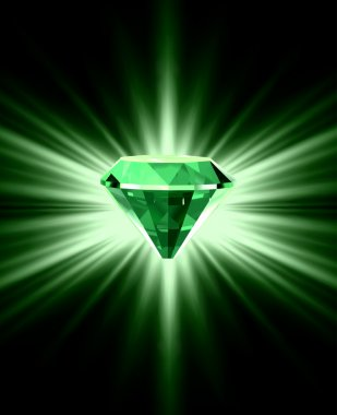 Beautiful green crystal background. Vector