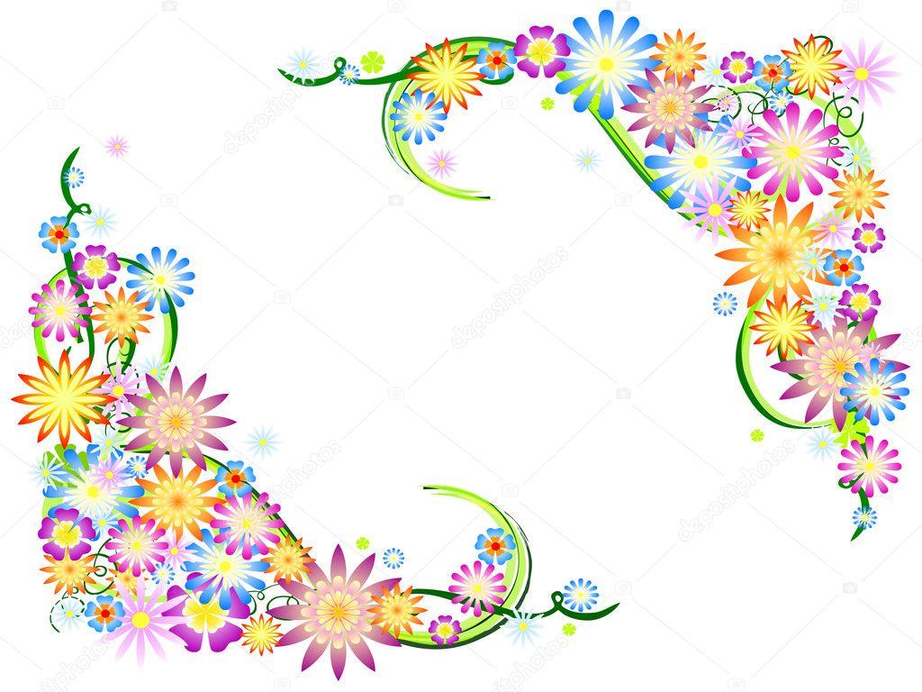 Frühlingsblumen in Farben — Stockfoto © marinini #9370914