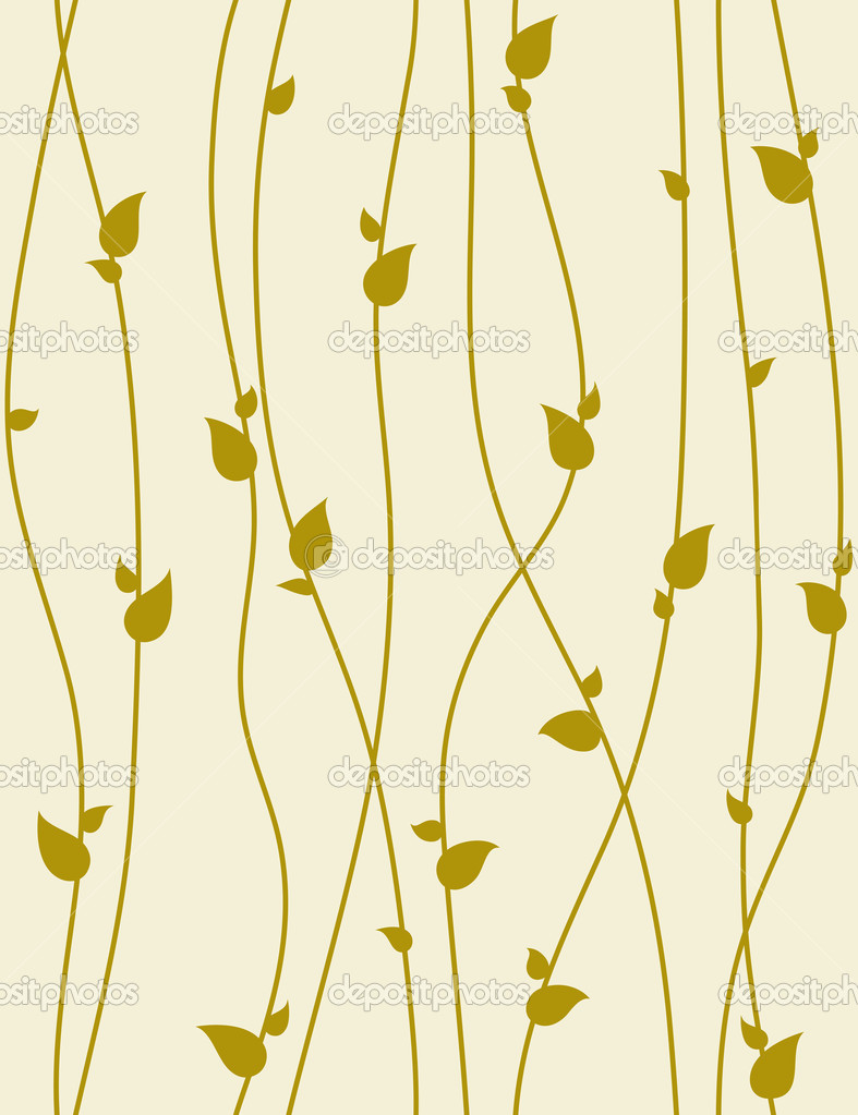 Seamless foliage pattern with spring branches. Vector illustrati