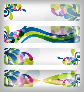 Abstract colorful website banner and designs for any use stock vector