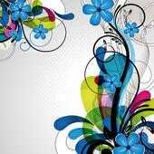 barevné šťastný květinový design