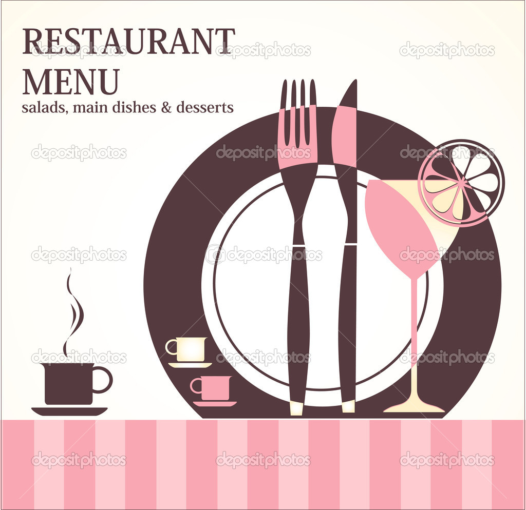 Restaurant menu design — stock vector lossik