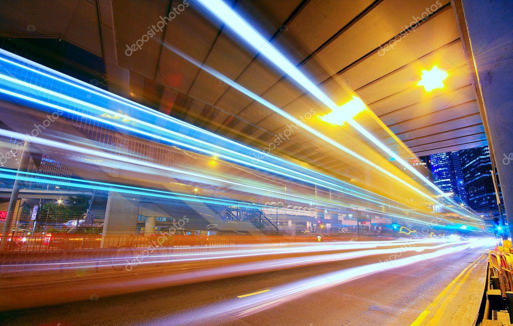 Фотообои Modern Urban City at Night with Freeway Traffic