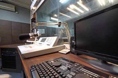 Control panel in a radio studio