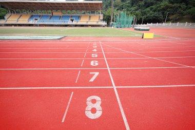 Stadium main stand and running track