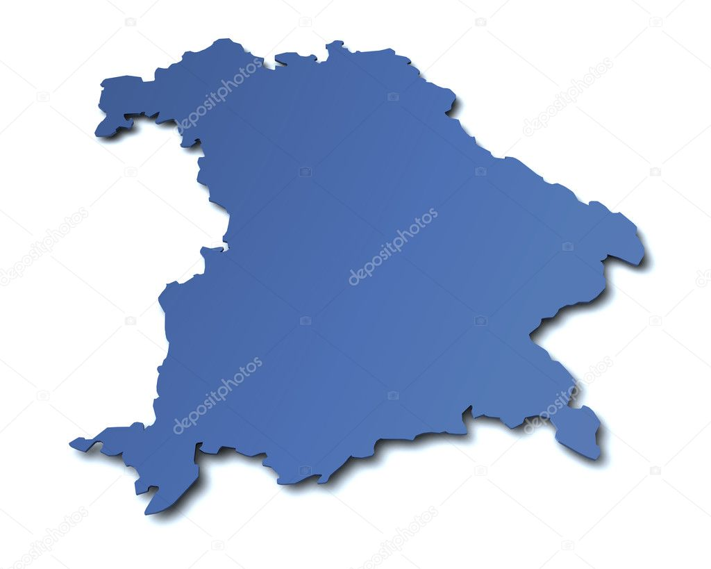 Map Of Germany Bavaria.Map Of The State Of Bavaria Germany Stock Photo C Jogg2002 9652683