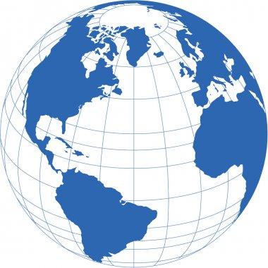 Vector image globe