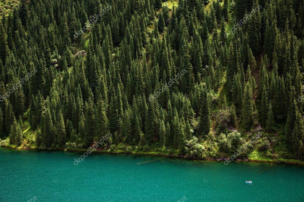 Kolsay Lake in Tien-Shan mountain, Kazakhstan
