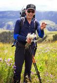 Fotografia escursionisti in montagna