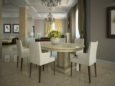 Dining-room in the modern country-house