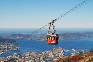 Cable car at Ulriken Bergen Norway