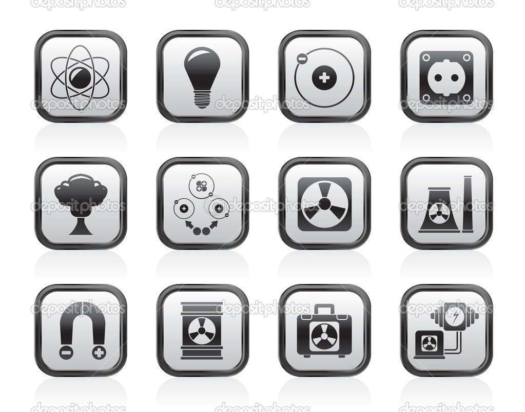 Atomic and Nuclear Energy Icons
