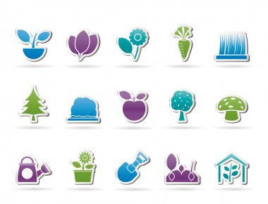 Different Plants and gardening Icons