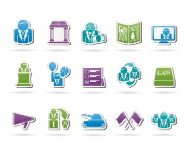 Politics, election and political party icons