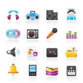 Hudba a zvuk ikony