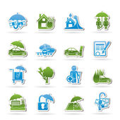 Photo Insurance and risk icons