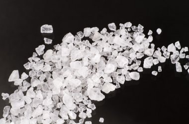 Sea salt crystals