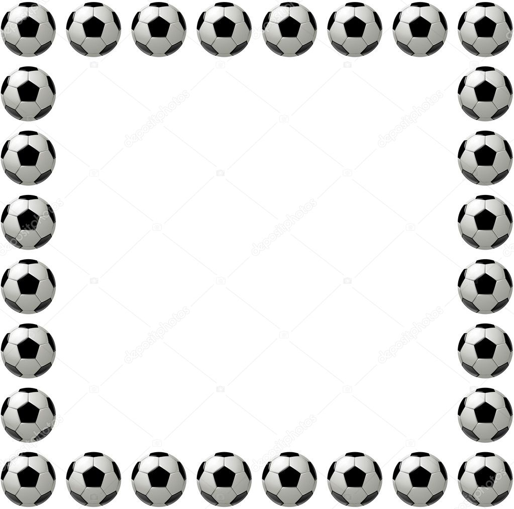 Square soccer ball or football frame — Stock Photo © hd-design #8742485