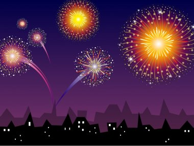 Colorful Vector Fireworks