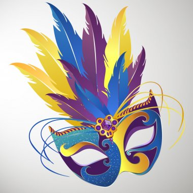 Vector illustration of a decorative carnival mask stock vector